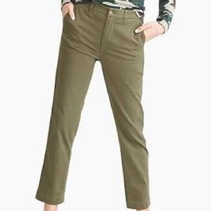 J.Crew high rise girlfriend  chino pants